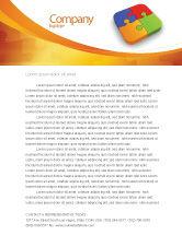 Business Concepts: Modelo de Papel Timbrado - pedaços de quebra-cabeça #04170
