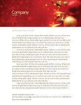Holiday/Special Occasion: Red Christmas Theme Letterhead Template #04186