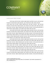 Nature & Environment: Water Drop Letterhead Template #04223