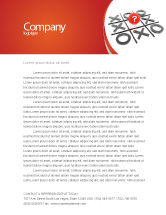 Consulting: Tic-tac-toe Letterhead Template #04226