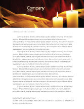 Religious/Spiritual: Candle Light Letterhead Template #04239