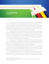 Education & Training: Color Pencils Lines Letterhead Template #04251