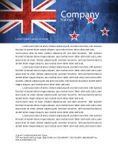 Flags/International: New Zealand Letterhead Template #04258