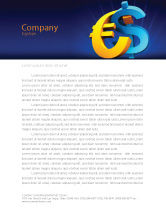 Financial/Accounting: Euro vs. Dollar Letterhead Template #04268