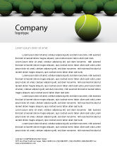 Sports: Tennis Balls Letterhead Template #04296