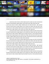 Art & Entertainment: Image Stock Letterhead Template #04306