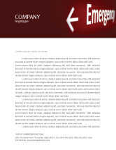 Business Concepts: Emergency Sign Letterhead Template #04341