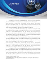 Technology, Science & Computers: Push the Button Letterhead Template #04342