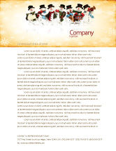 Holiday/Special Occasion: Snowmen Orchestra Letterhead Template #04354