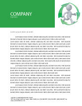 Business Concepts: Recycling Circle Letterhead Template #04362