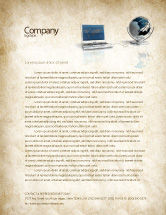 Technology, Science & Computers: Connect to World Letterhead Template #04403
