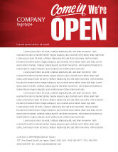 Careers/Industry: We Are Open Letterhead Template #04405