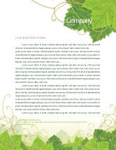 Nature & Environment: Grape Leaves Ornament Letterhead Template #04421