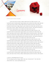 Construction: 3D Cubes Building Letterhead Template #04463