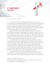 Utilities/Industrial: Hammer Man Letterhead Template #04496