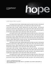 Religious/Spiritual: Hope Letterhead Template #04503