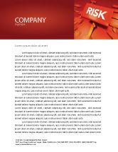 Business: 편지지 템플릿 - 위험 차단 #04516