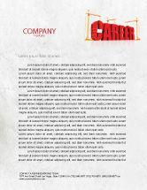 Careers/Industry: Career Building Letterhead Template #04528