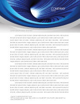 Technology, Science & Computers: Digital Tunnel Letterhead Template #04529