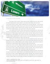 Consulting: Verlierer und gewinner Briefkopf Vorlage #04530