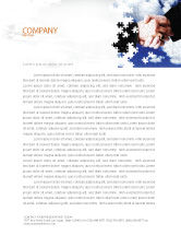 Business: Puzzle Of Partnership Letterhead Template #04550