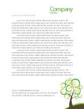 Nature & Environment: Green Solution Letterhead Template #04597
