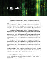 Technology, Science & Computers: Matrix Code Letterhead Template #04604