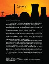 Utilities/Industrial: Nuclear Power Plant Letterhead Template #04632