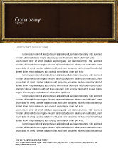 Art & Entertainment: Frame Letterhead Template #04656