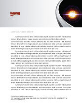 Technology, Science & Computers: Supernova Letterhead Template #04660