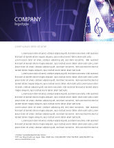 Art & Entertainment: Music Tune Letterhead Template #04663