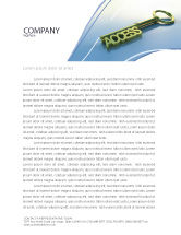 Business Concepts: Access Key Letterhead Template #04689