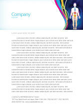 Medical: Body Chakras Letterhead Template #04696