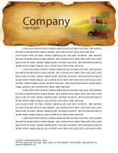 Agriculture and Animals: Life On The Farm Letterhead Template #04698