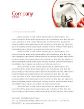 Medical: Phonendoscope In A Gray Red Colors Letterhead Template #04712