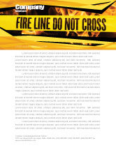 Careers/Industry: Fire Line Letterhead Template #04736