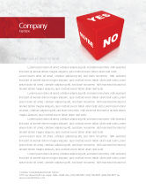 Consulting: Decision Cube Letterhead Template #04774