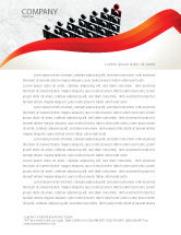 Careers/Industry: Administrative Achievements Letterhead Template #04775