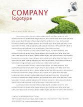 Nature & Environment: Grüner weg Briefkopf Vorlage #04785