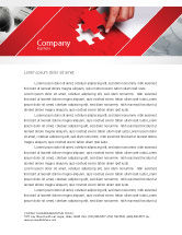Consulting: Red Piece Letterhead Template #04790