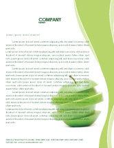 Food & Beverage: Sliced Green Apple Letterhead Template #04794