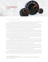 Cars/Transportation: Speedo Letterhead Template #04804