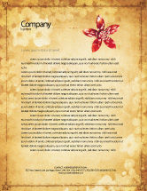Abstract/Textures: Grunge Flower Texture Letterhead Template #04826