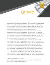 Consulting: Open Box Letterhead Template #04830