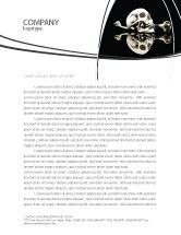 Education & Training: Skull And Bone Letterhead Template #04834
