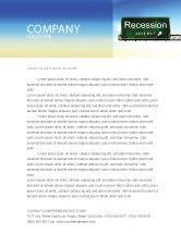 Financial/Accounting: Recession Letterhead Template #04847