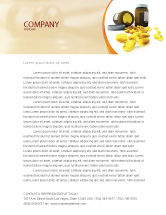 Medical: Capsules Letterhead Template #04855