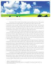 Nature & Environment: Modèle de Papier à en-tête de paysage ensoleillé #04863