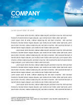 Careers/Industry: Water Wave Letterhead Template #04866