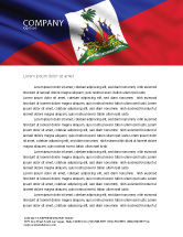 Flags/International: Haiti Letterhead Template #04875